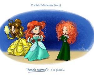 disney, ariel, and pocket princesses image
