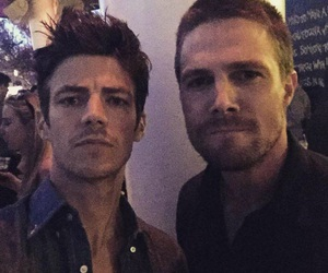arrow, the flash, and stephen amell image