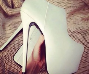 heels, white, and high heels image