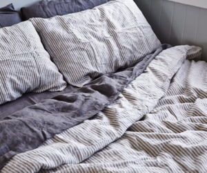 bed linen, grey, and bedroom image