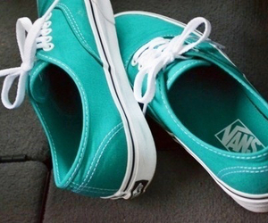 vans, shoes, and blue image