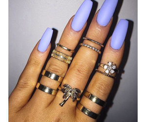 nails, jewelry, and matte image