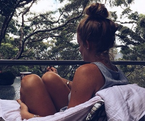 fashion, girl, and relax image