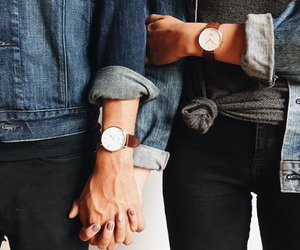 couple, perfection, and denim jackets image