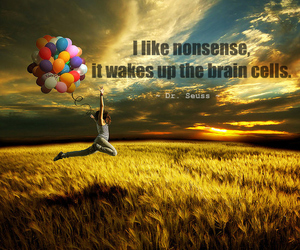 quote, nonsense, and Dr. Seuss image