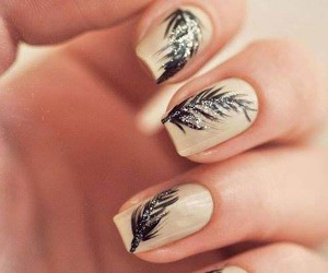 nails, feather, and art image