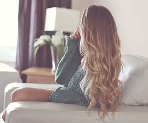blonde, comfy, and ombre image