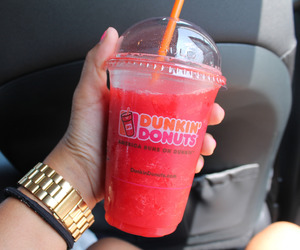 dunkin donuts and drink image