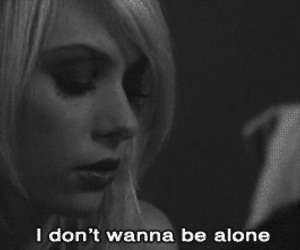 alone, text, and blond image