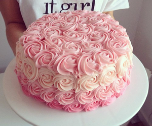 creamy, rosy, and cake image