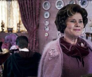 dolores umbridge, harry potter, and hogwarts image