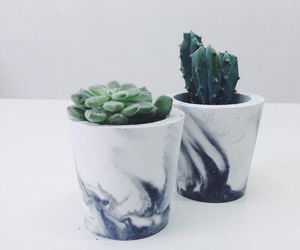 green, marble, and plants image