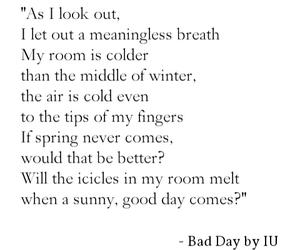 bad day, korea, and kpop image