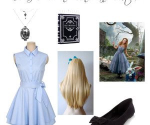 alice in wonderland, costume, and diy image