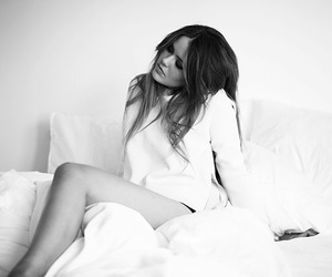 black and white, kristina bazan, and bed image