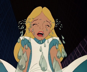 disney, alice, and cry image