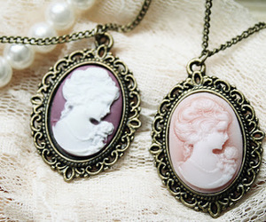 vintage, cameo, and necklace image