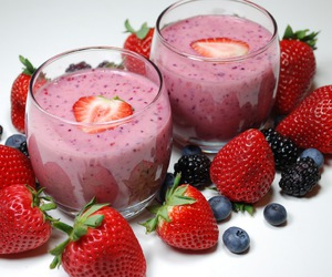 healthy, smoothie, and fruit image