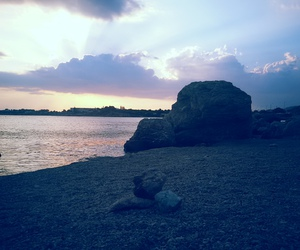 beach, Greece, and lagonisi image
