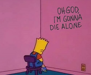 alone, simpsons, and sad image