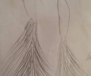 bridal, drawing, and fashion image