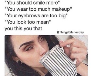 makeup, smile, and funny image