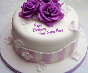 Birthday Cakes Images With Name And Photo ~ Write your name on pineapple birthday cake picture
