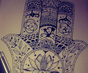 art, fatima, and hand image