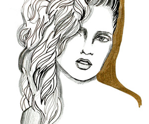 gold, pen, and pencil image