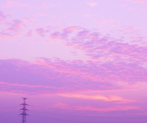 clouds, dusk, and pink image