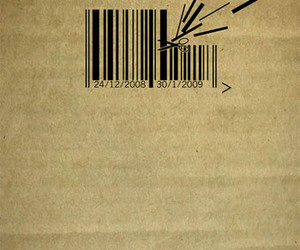 barcode, funny, and scissors image