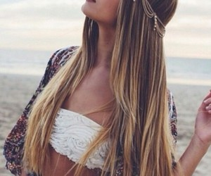beach, hair, and summer image
