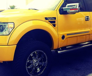 ford, yellow, and truck image