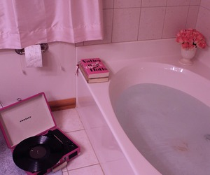 pink, aesthetic, and bath image