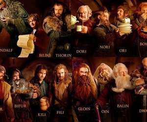 gandalf, dwarves, and bilbo image