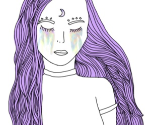 hair, purple, and lovethis image