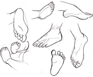 how to draw feet, drawing feet, and drawing how to image