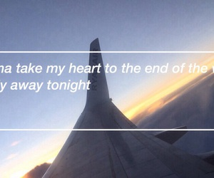 air plane, fly, and Lyrics image