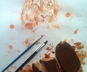 art, drawing, and ice cream image
