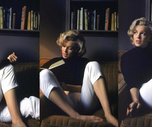 Marilyn Monroe, book, and beauty image