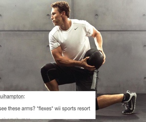 arms, funny, and hockey image