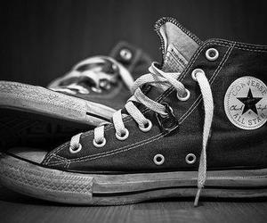 all star, black and white, and cool image