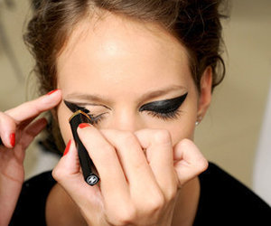 model, makeup, and eyeliner image