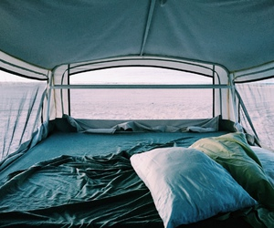 summer, travel, and camping image