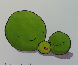 happy, peas, and good vibes image