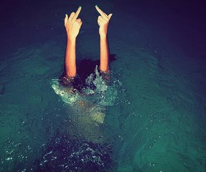 badass, water, and middle finger image