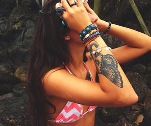 tattoo, girl, and bikini image