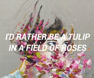 quotes, rose, and art image