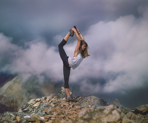 fitness, girl, and landscape image