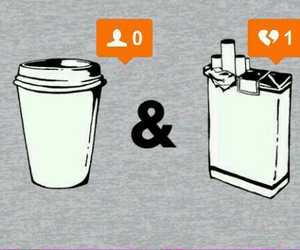 coffee, cigarettes, and broken heart image